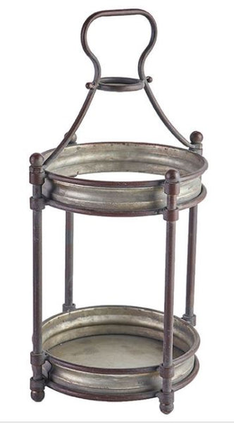 Vintage Metal Refined Farmhouse Lantern