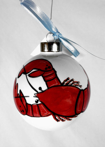 SHARD Pottery of Maine - Hand Painted Ceramic Ornament by J. Victoria Rattigan Designs (Lobster) - Mellow Monkey  - 1