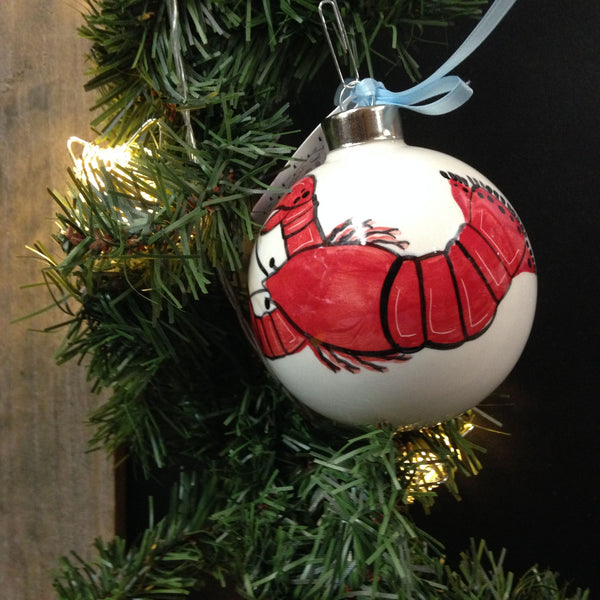 SHARD Pottery of Maine - Hand Painted Ceramic Ornament by J. Victoria Rattigan Designs (Lobster) - Mellow Monkey  - 2