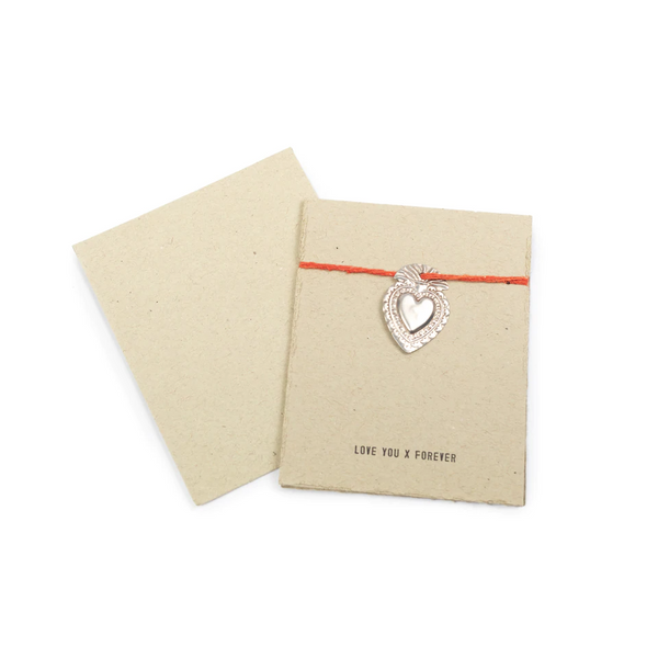 Milagro Heart Card - Love You X Forever