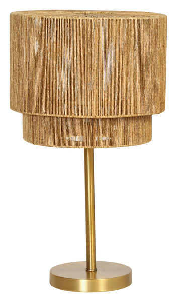 Metal Table Lamp with Paper String Shade