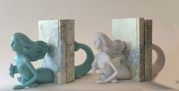 Deep Sea Mermaid Bookends