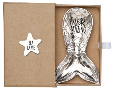 Mermaid Tail Metal Dish in Gift Box - Sea La Vie - Mermazing