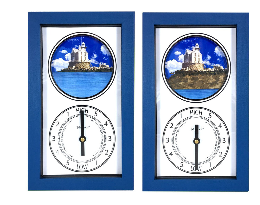 Tidepieces by Alan Winick - Stratford Shoal (Middle Ground) Lighthouse Long Island Sound - Tide Clock