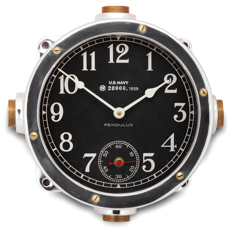 Heavy Aluminum Navy Master Clock | 12-in