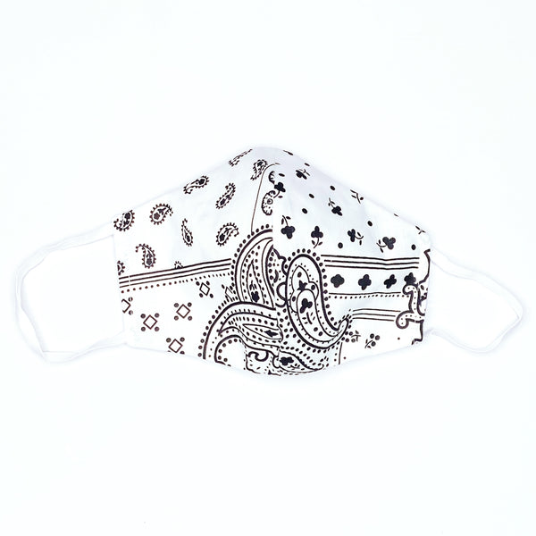 Facemasks LA - Face Mask with Filter - Bandana - Black and White