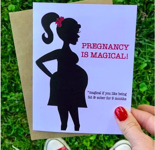 Pregnancy Is Magical - Greeting Card