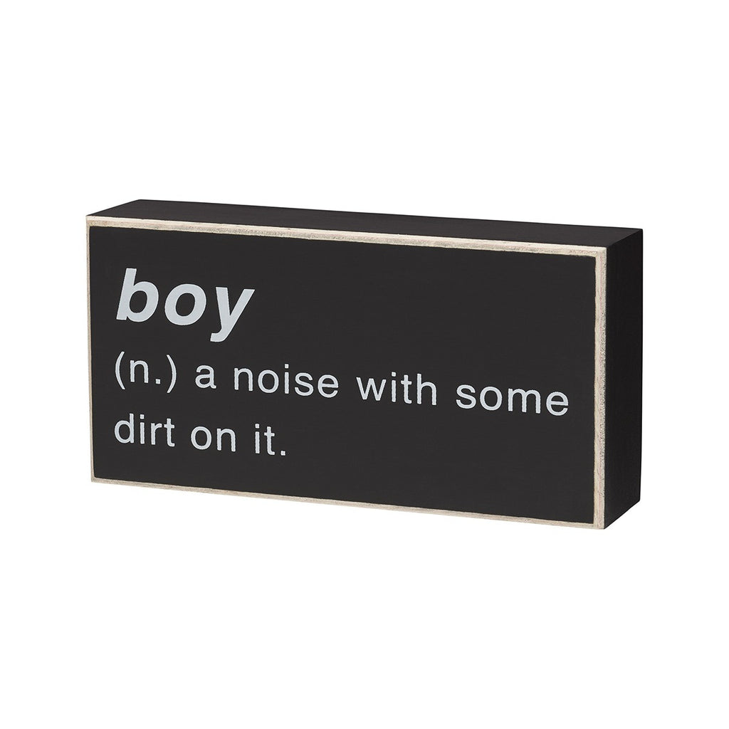 The Definition of Boy - Box Sign 6-in