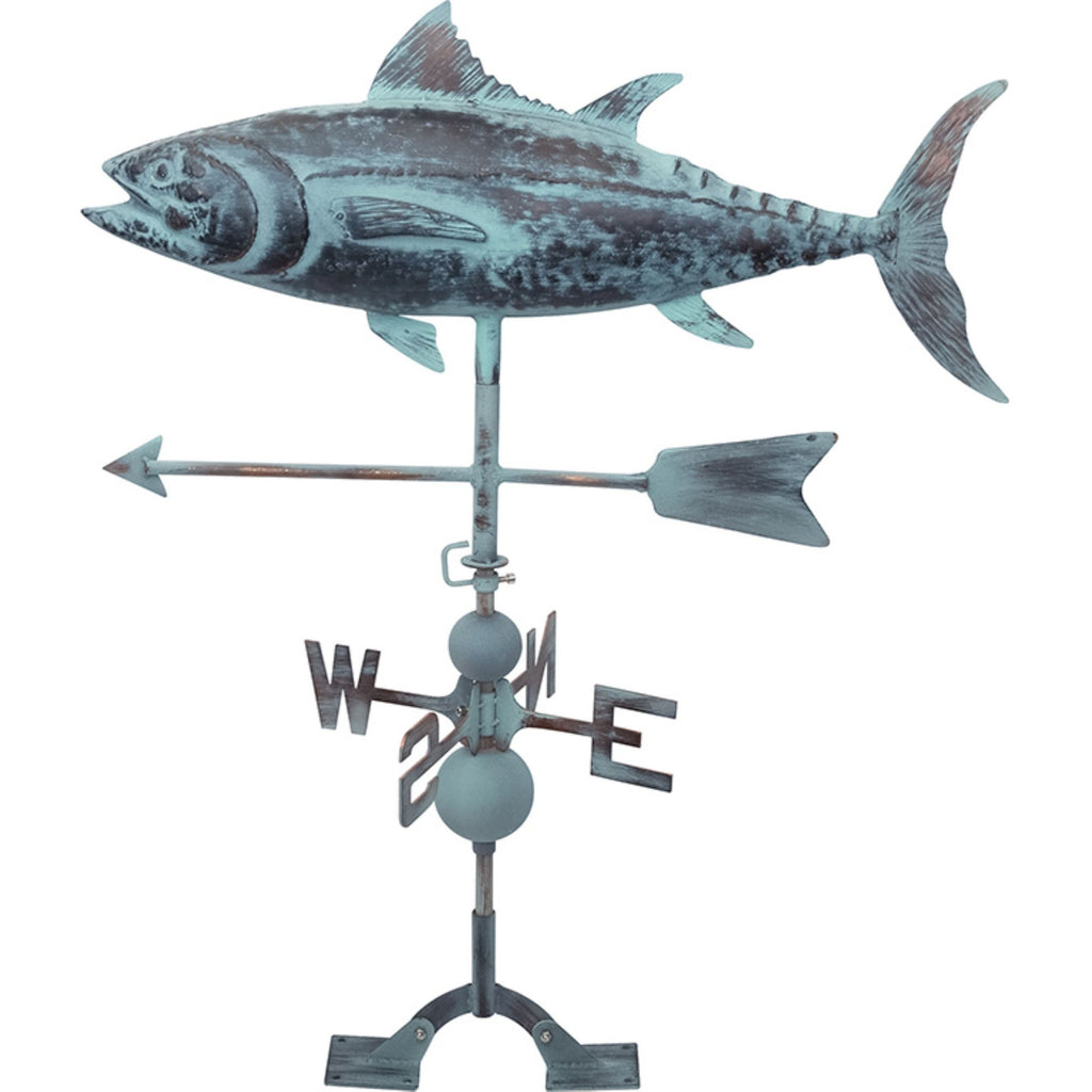 Copper Tuna Weather Vane with Patina Finish - 29-in