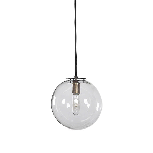 Vaughn Glass Globe Pendant Lamp - 10-in