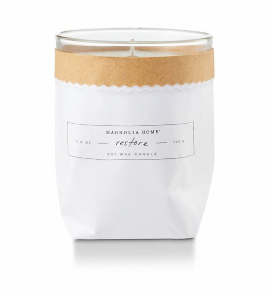 Magnolia Home by Joanna Gaines - Restore - Kraft Textured Bagged Candle