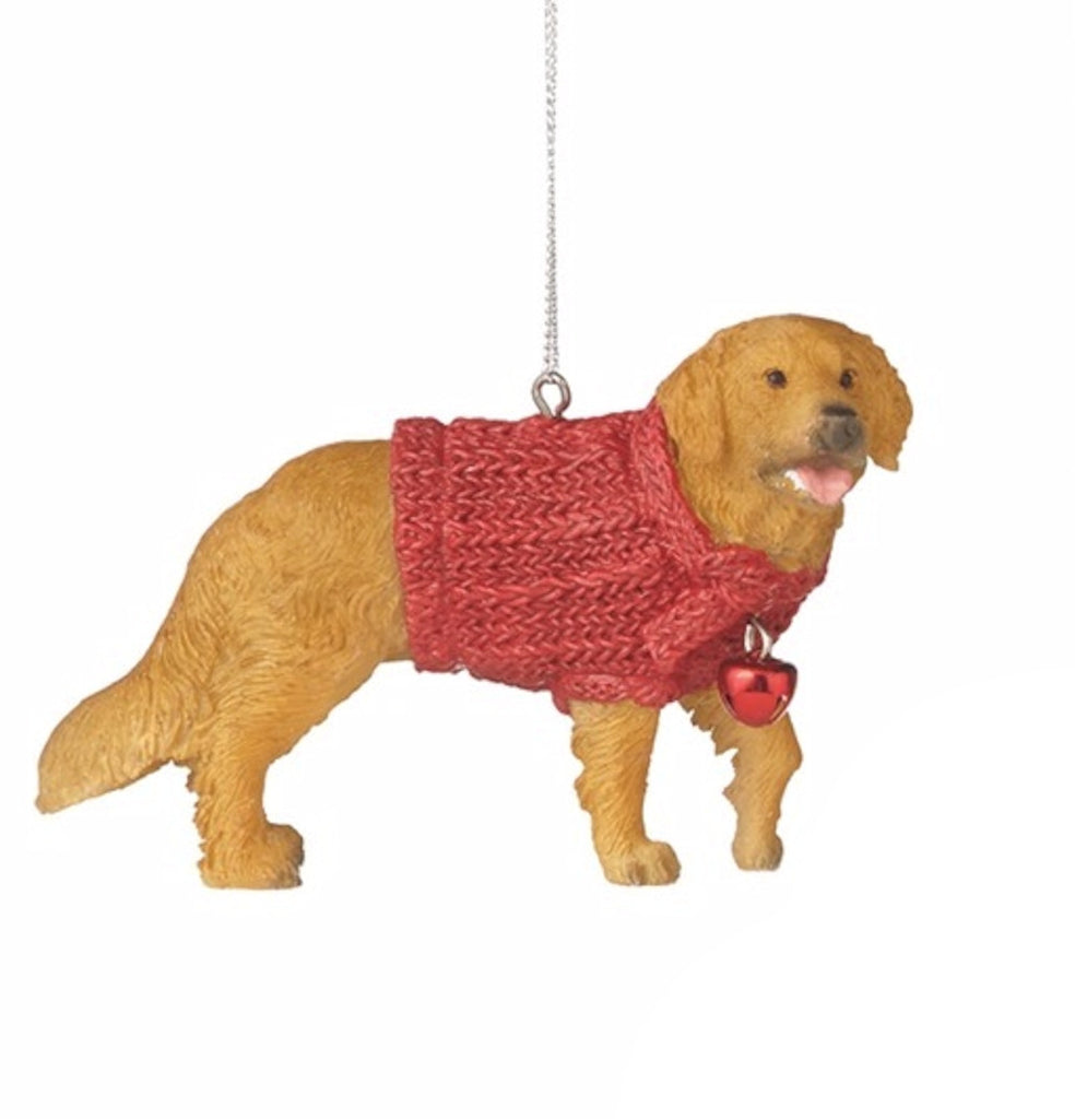 Family Dog in Red Sweater Ornament - Mellow Monkey  - 3
