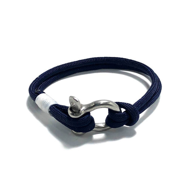 Navy Nautical Shackle Bracelet