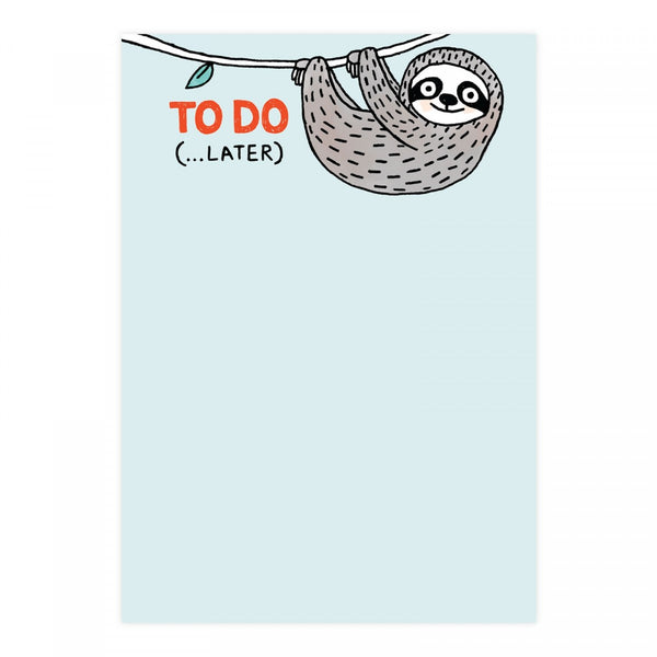 To Do (Later ...) Sloth Notepad