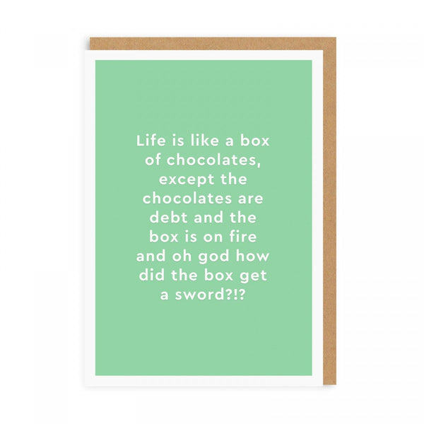 Life Is Like A Box Of Chocolates ... Birthday Greeting Card