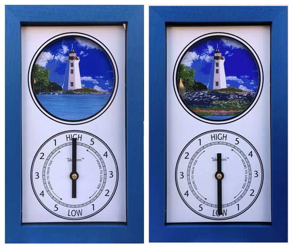 Tidepieces by Alan Winick - Black Rock Harbor Light / Fayerweather Island Lighthouse Tide Clock