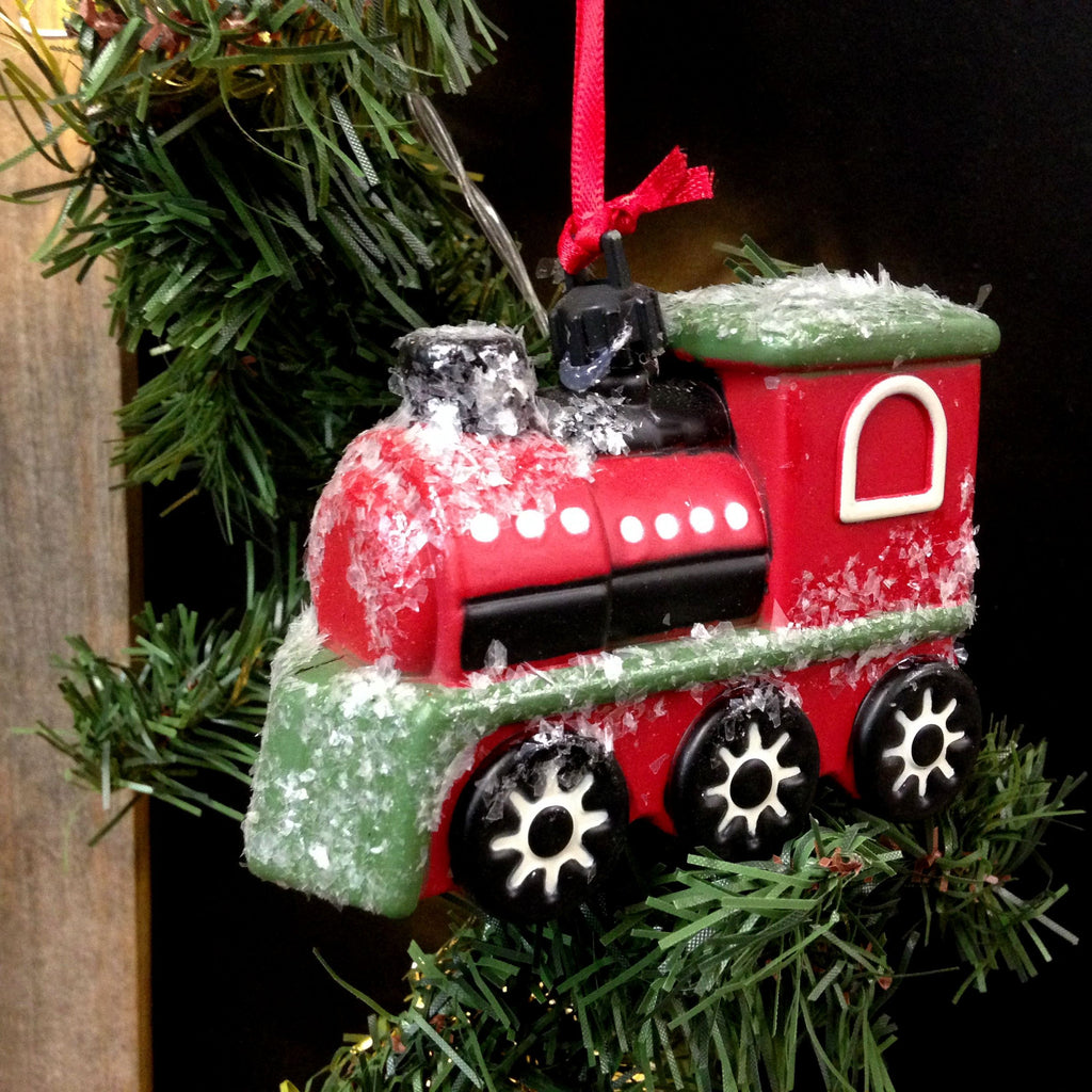 Vintage Transportation Holiday Christmas Tree Ornament - 5-in (Train Locomotive) - Mellow Monkey  - 1
