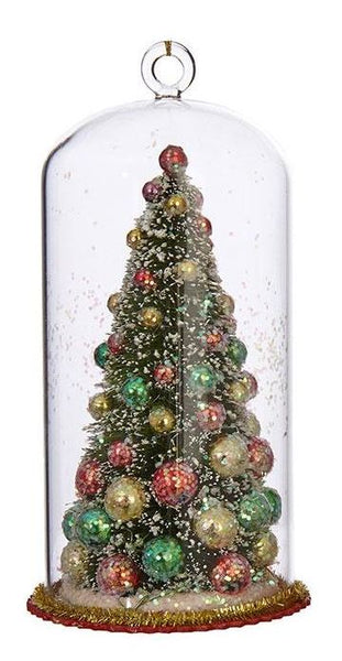 Holiday Tree in Glass Dome Ornament