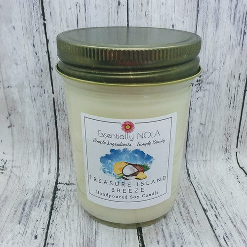 Essentially Nola - Treasure Island Breeze - Hand Poured Soy Candle - 8-oz