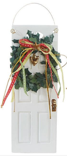 Holiday Front Door Ornament with Wreath