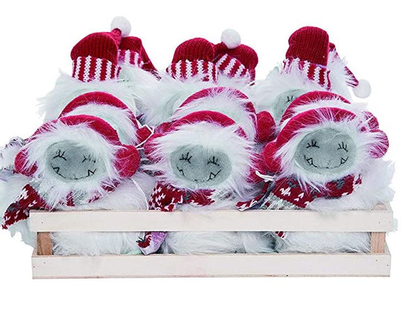Plush Mini Yeti Holiday Ornament