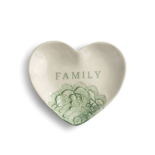 Family Treasure Keeper - Heart Shaped Trinket Dish
