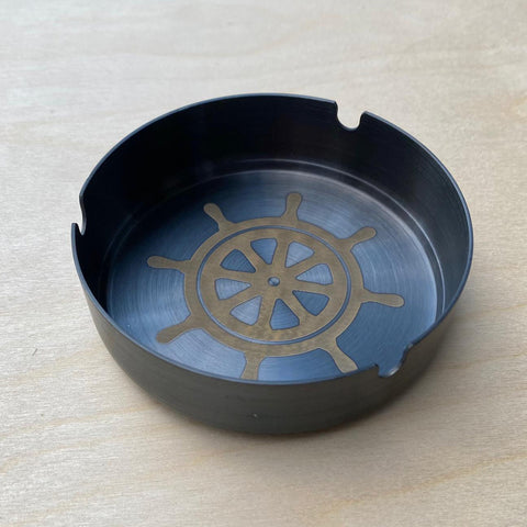 Wheel Ashtray Black