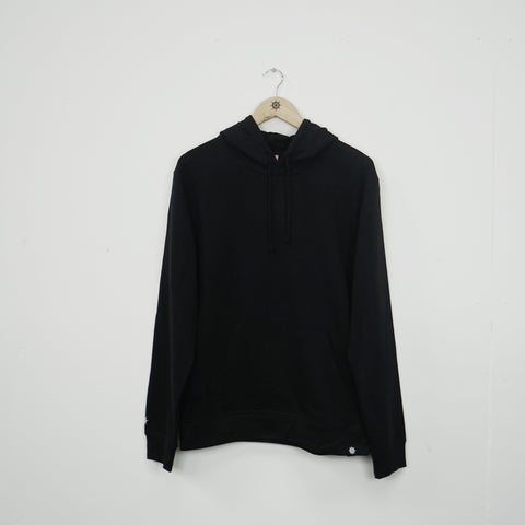 Black Essential Pullover Hood