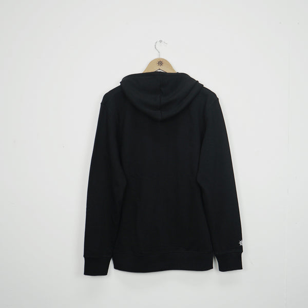 Black Essential Zip Thru Hood