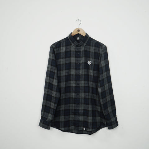 Wheel Checked Shirt Navy