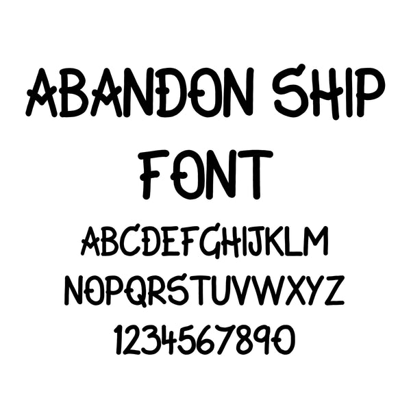 Abandon Ship Font - Regular