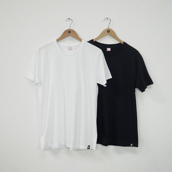 Navy/White Essential T-Shirt Twin Pack