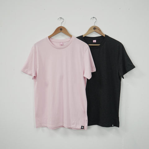 Pink/Dark Grey Essential T-Shirt Twin Pack