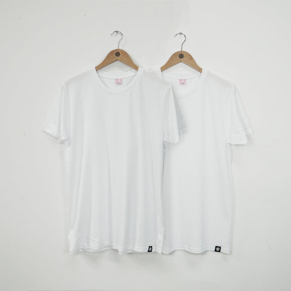 White/White Essential T-Shirt Twin Pack