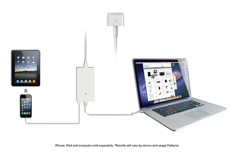 Ultra Slim Magsafe 2 (T tip) Power Adapter Charger for Apple Macbook Pro Air - Retina Display New Model A1424 A1398