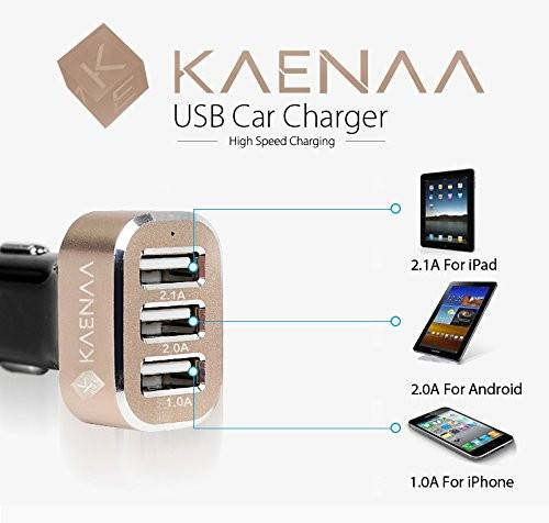 Ultra-fast 5.1A 3-USB Car Charger - Qi-Infinity