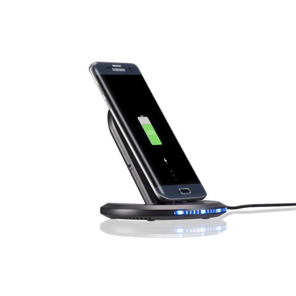 Qi-infinity™ 2-Coils Fast Wireless Charger (10W) Folding Dock - Qi-Infinity