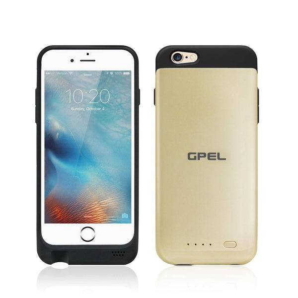 [Apple Certified Mfi] Qi Wireless Charging Battery Case [Gold]  for iPhone 6 and 6S - Qi-Infinity