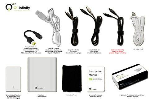 Powerhouse 60,000 mAh External Battery Pack - Macbook Air and Pro - Qi-Infinity
