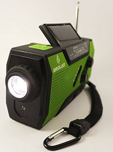 Emergency Solar Hand Crank Radio Self Powered AM/FM - NOAA Weather Radio, Survival LED Flashlight, Smart Phone Charger 2000mAh Power Bank