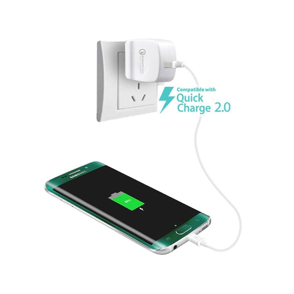 [Qualcomm Certified] Quick Charge 2.0 USB Turbo AC Wall Charger (18 Watts)