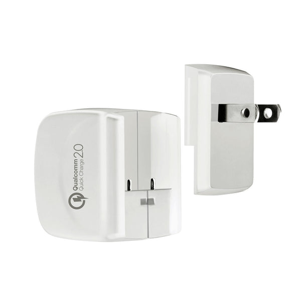 [Qualcomm Certified] Quick Charge 2.0 USB Turbo AC Wall Charger (18 Watts) - Qi-Infinity