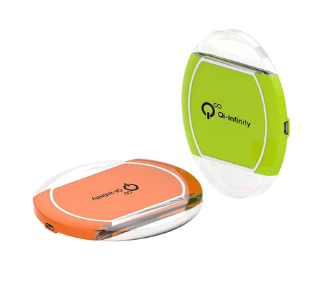 Qi Wireless Charging Pad with SLEEP-FRIENDLY Portable Design for Samsung Galaxy S7, S6, Edge, Note 5, Nexus, S5 - (Green)