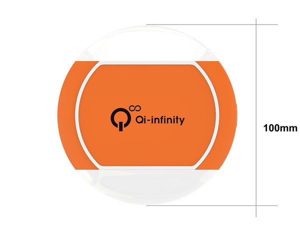 Ultra-slim Wireless Charger with Smart LED Sensor - (Orange)