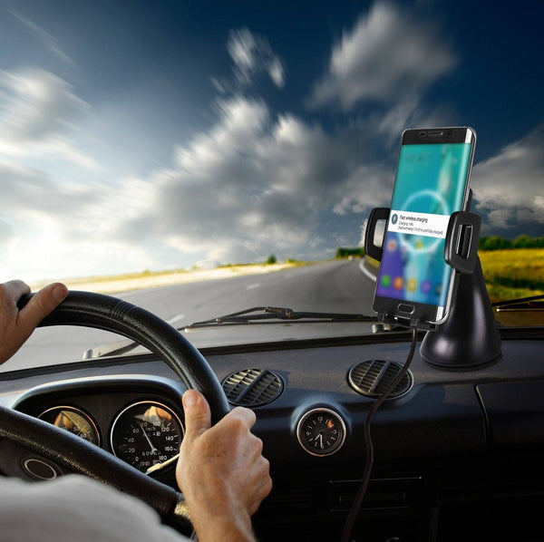 Fast Wireless Car Charger - Qi-Infinity