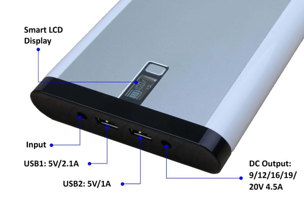 Powergrid 34,200mAh External Battery Pack - PC, Laptops and Surface Pro - Qi-Infinity