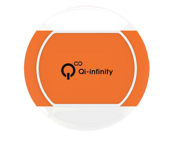 Ultra-slim Wireless Charger with Smart LED Sensor - (Orange) - Qi-Infinity