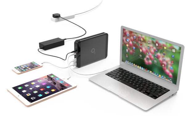 38,000 mAh USB-C Type C Power Bank - MacBook Air, Pro - Qi-Infinity