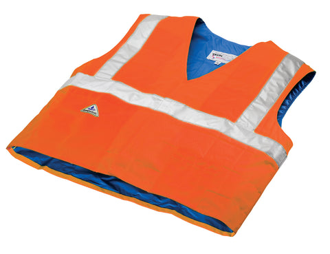 Evaporative Cooling Traffic Safety Vest - Orange