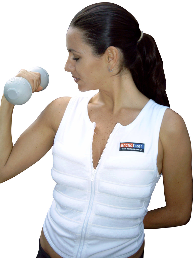 BODY COOLING VEST - White - Cool Down Australia - 2